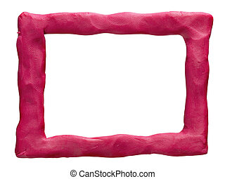 Plasticine frame isolated on a white background