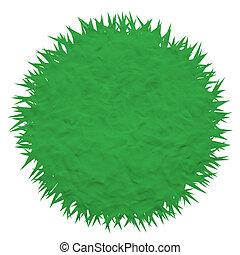 Plasticine grass on white background