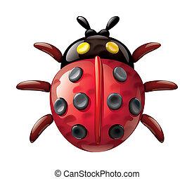 Plasticine ladybug illustration