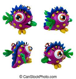 Plasticine monster
