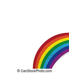 Plasticine rainbow on white background, isolated