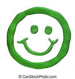Plasticine smile isolated on a white background