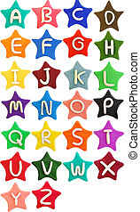 plasticine star letter a-z