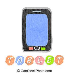 Plasticine Touchscreen tablet