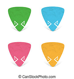 Plasticine Triangle icon on white background
