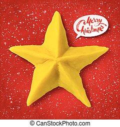 plasticine, vetorial, estrela, natal, figura