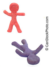 Plasticine Winner - Plasticine figure wins