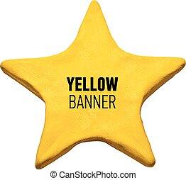 Plasticine yellow star.