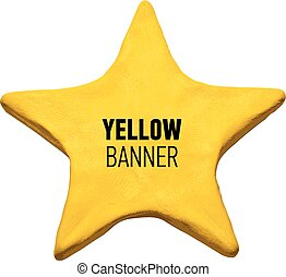 Plasticine yellow star.