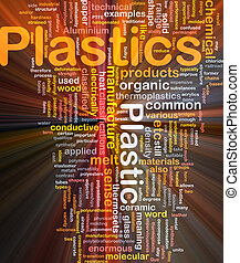 Plastics material background concept glowing light effect