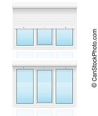 rollen fenster vektor fensterl den. Black Bedroom Furniture Sets. Home Design Ideas