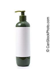 plastik, seife, flüssiglkeit, flasche, grün, pumpe, ...