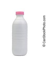 plastique, bouteille lait