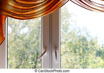 plastique, fenêtre