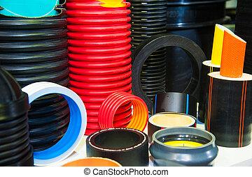 plastique, production, eau, usine, canaux transmission