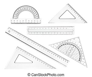 plastisk, linjal, matematik, geometri, skola, utbildning