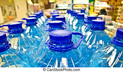 plastisk, vatten buteljerar
