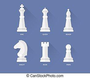 plat, échecs, icônes