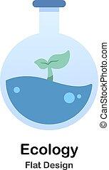 plat, écologie, illustration