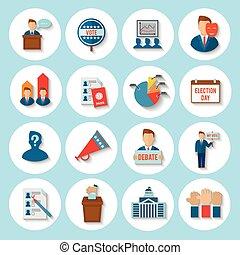 plat, élection, icône