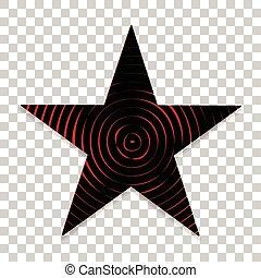 plat, étoile, classique, arrière-plan., conception, transparent, icône