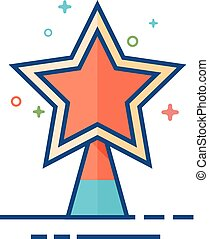plat, étoile, couleur, arbre, -, noël, icône
