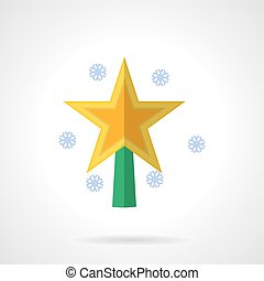 plat, étoile, couleur, clair, vecteur, noël, icône