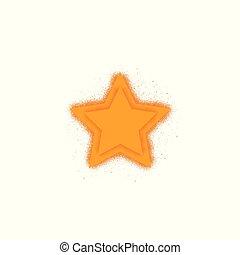 plat, étoile, favori, -, jaune, icône, vecteur, branché, conception