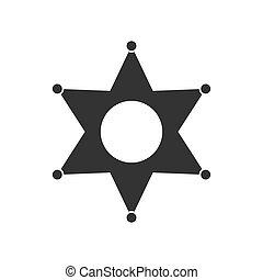 plat, étoile, icône