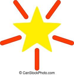 plat, étoile, illustration, clair, vecteur, icône