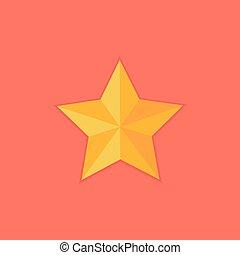 plat, étoile, noël, jaune, icône