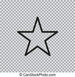 plat, étoile, vecteur, fond, transparent, icône