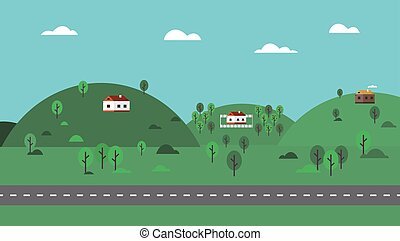 plat, 04, natuur, meetkunde, achtergrond, landscape