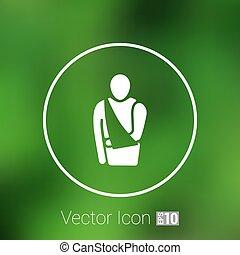 plat, 10, monde médical, eps, pictogram., vecteur, icon.