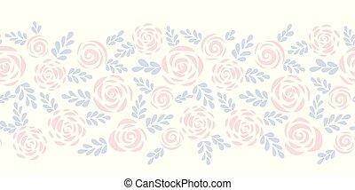 plat, abstract, moderne, seamless, rozen, vector, grens