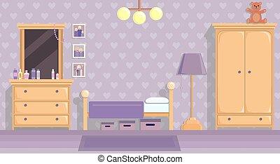 plat, adolescent, vecteur, salle, lilas, espace, texte, image, filles, papier, conception, endroit, style.