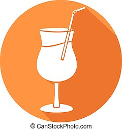 plat, alcool, cocktail, icône