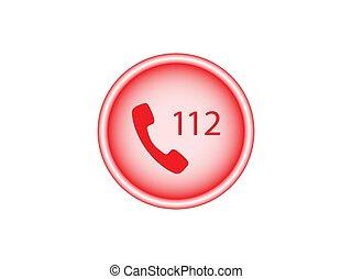 plat, appeler, vecteur, design., icon., illustration, urgence