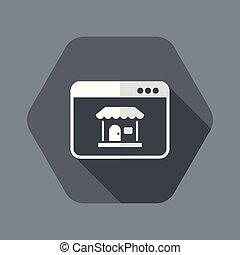 plat, application, -, e-commerce, fenêtre, vecteur, minimal,...