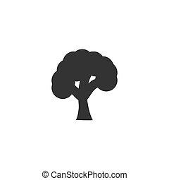 plat, arbre, icône