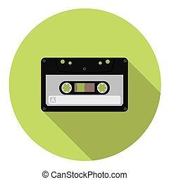 plat, audiocassette, pictogram
