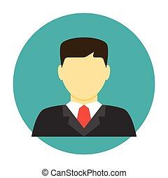 plat, avatar, advocaat, pictogram