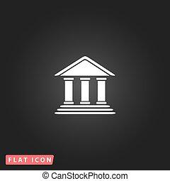 plat, banque, icône