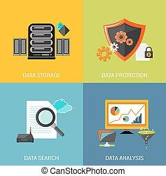 plat, base données, icônes