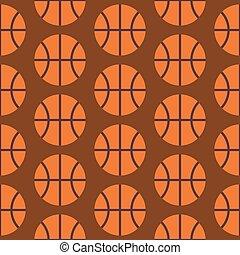plat, basketbal, model, seamless, vector, activiteit, sportende