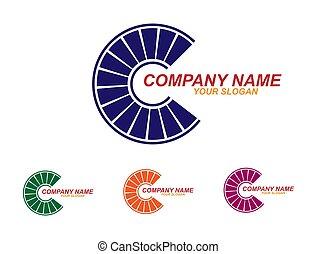 plat, bedrijf, ontwerp, mal, logo.