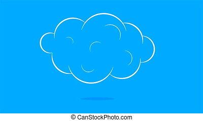 plat, blanc, conception, nuage