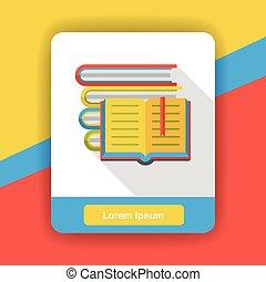 plat, boek, lezende , pictogram