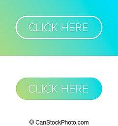 plat, bouton, ensemble, cliquez ici