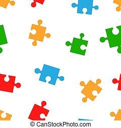 plat, business, coloré, modèle, puzzle, puzzle, pattern., seamless, arrière-plan., jeu, vecteur, symbole, illustration.